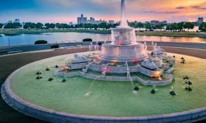 Fountain at Belle Isle near downtown Detroit