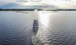 Cruise ship on Great Lakes