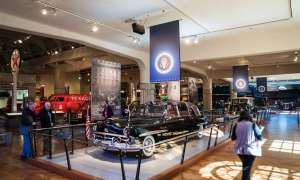 Car exhibit at The Henry Ford Museum.