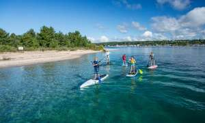 Paddle boarders at Petoskey