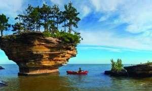 Adventures await at Turnip Rock on Lake Huron