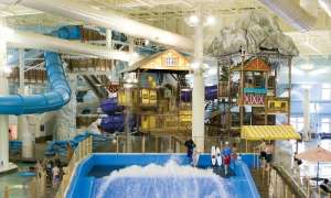 Indoor water park play area