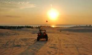 dune buggy on the beach at silver lake sand dunes