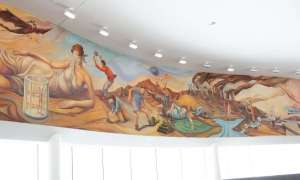 historic mural in Big Rapids