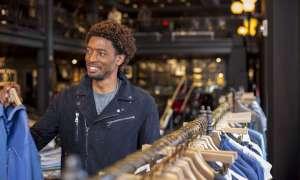 Man shopping at a clothing store