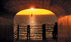 watching a sunset at tunnel park