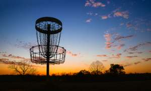 Disc Golf at Sunset
