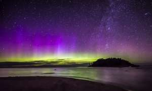 northern lights - colors of purples yellows and greens