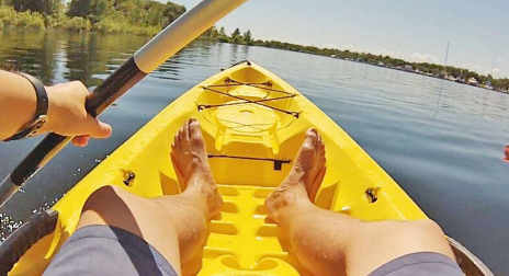 Kayaking on the central upper peninsula