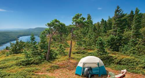 Camping on the upper peninsula