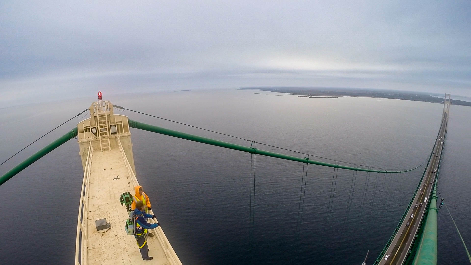 This Rare 3D View Of The Top Mackinac Bridge Using Google Maps Street Is Mind Blowing