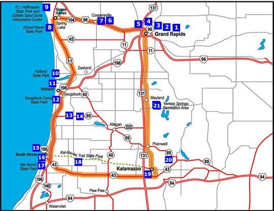 Grand Rapids - Grand Haven - South Haven - Kalamazoo | Michigan