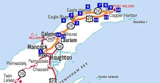 Houghton Eagle River Copper Harbor Michigan