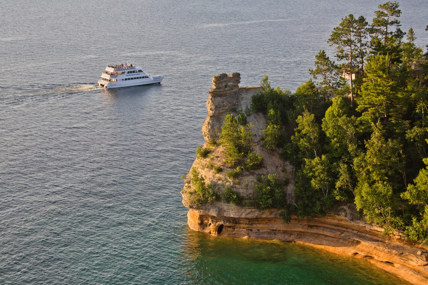Image result for pictured rocks cruises is one of the best ways to see the lakeshore Shawn Malone