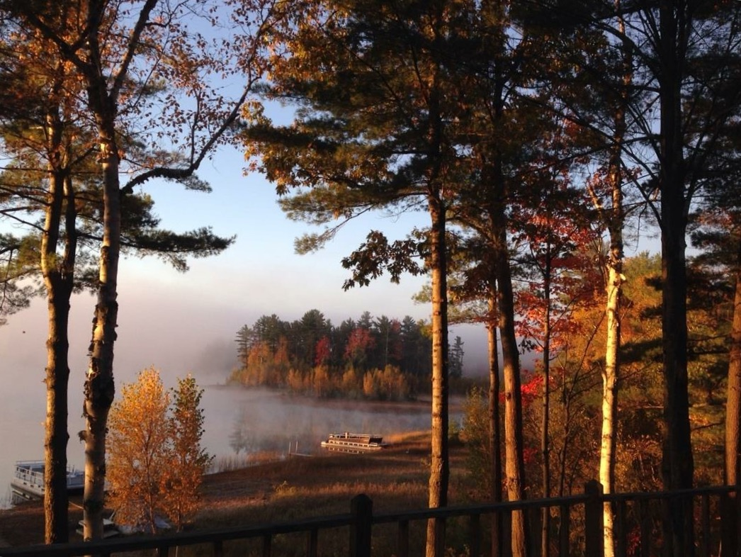 Lake Arrowhead in Gaylord during Fall