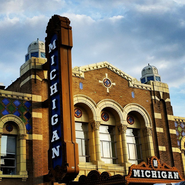 The iconic Michigan Theater in Ann Arbor