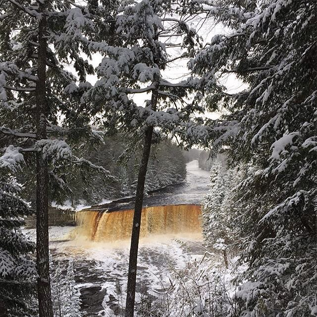 Tahquamenon Falls State Park in winter