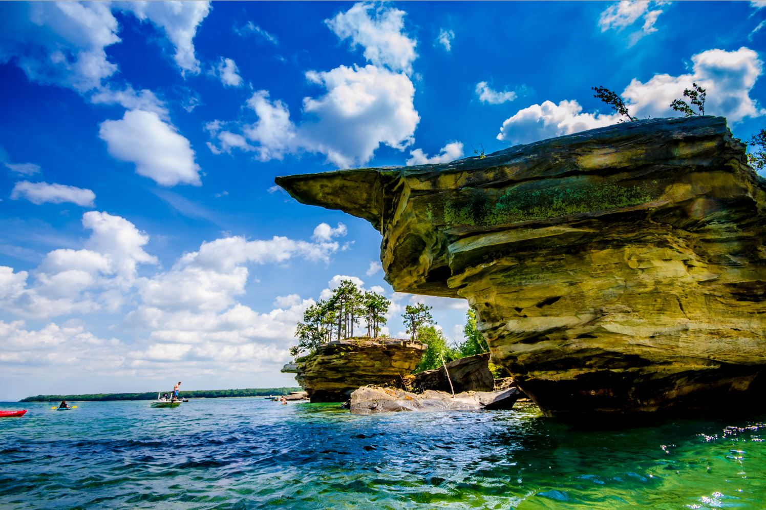 Thumb Nail Rock and Turnip Rock in Port Austin