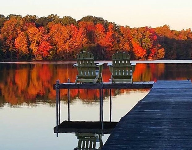 scenic route fall image by the Lake.jpg