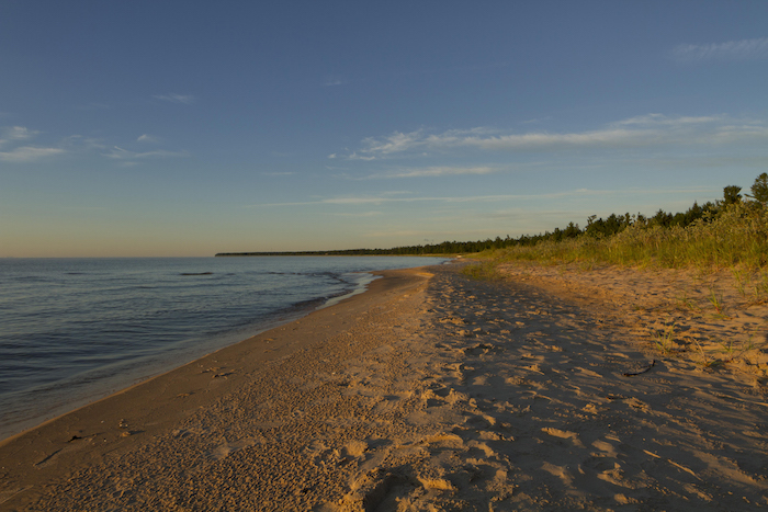 Lake Michigan shoreline at Beaver Island.