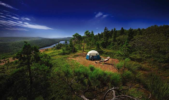Camping at Porcupine Mountain Wilderness Area