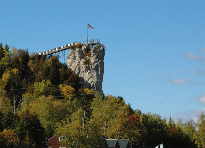 Castle Rock in St. Ignace
