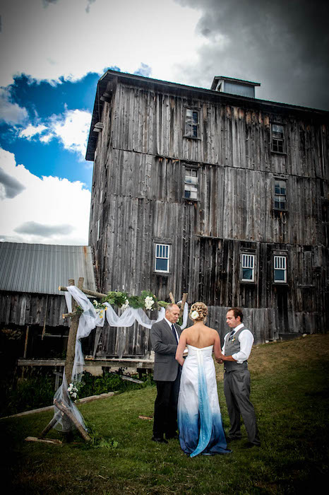 Wedding at Elowsky Grist Mill at Hemlock Hills on Mill Pond