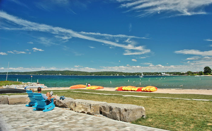 Kayak Rentals on Clinch Park Beach in Traverse City