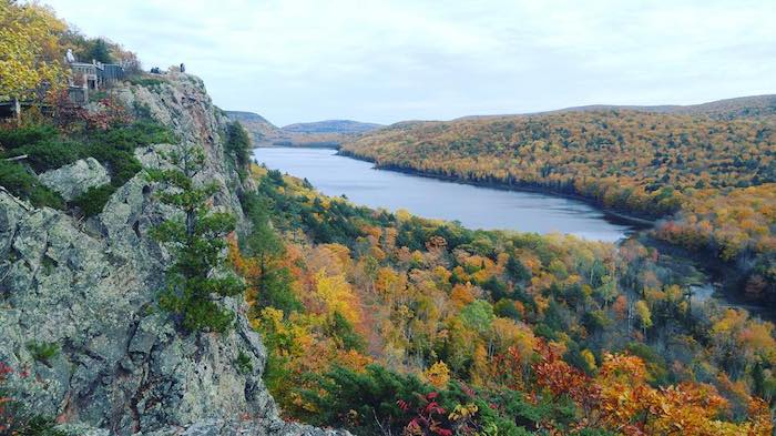 Lake of the Clouds inside Porcupine Mountains Wilderness State Park