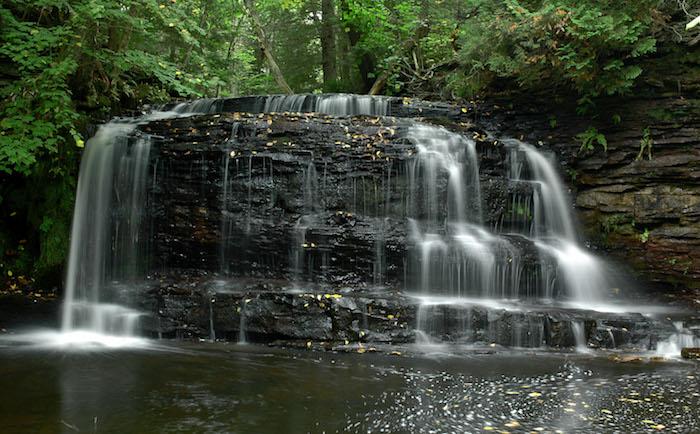 Keweenaw Peninsula Waterfalls Hungarian Falls