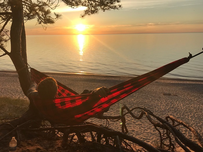 Hammocking at Pictured Rocks National Lakeshore