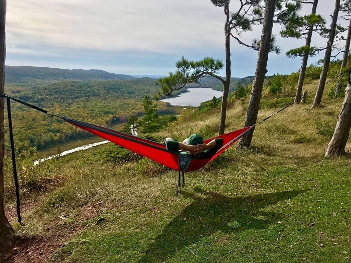 Hammocking in Porcupine Mountains Wilderness State Park