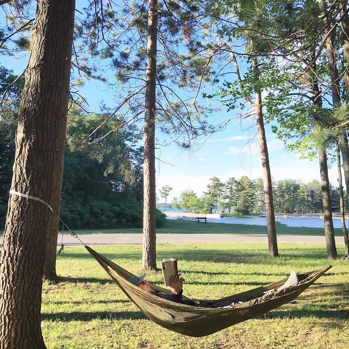Hammocking in South Higgins Lake State Park