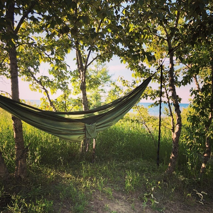 Hammocking in Wilderness State Park