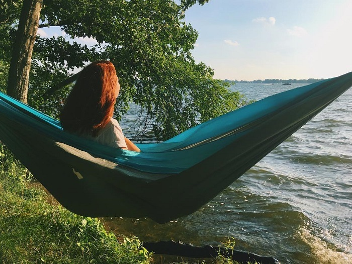Hammocking in Yankee Springs Recreation Area