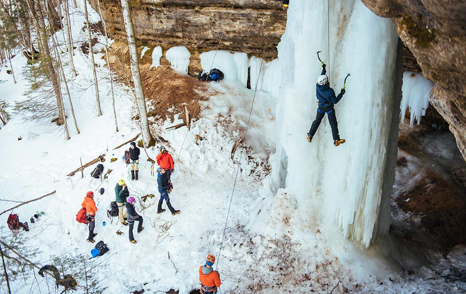 Ice climbing in the Upper Peninsula