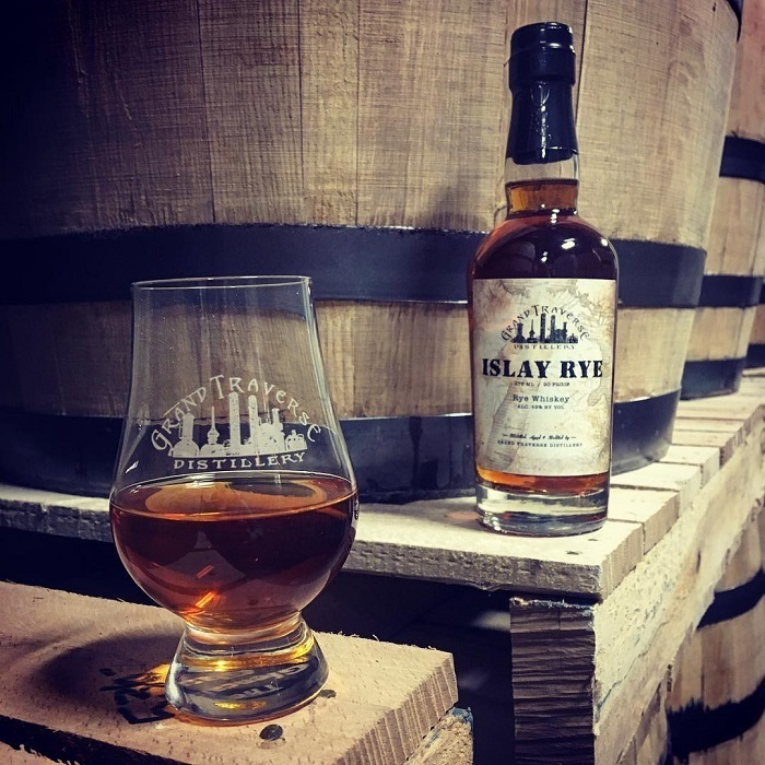islay rye whiskey grand traverse distillery