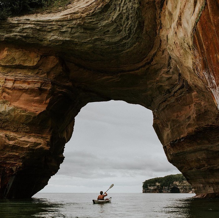 Kayaking at Pictured Rocks National Lakeshore