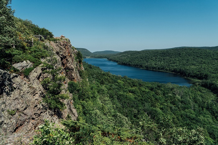 Lake of the Clouds in Porcupine Mountain State Park