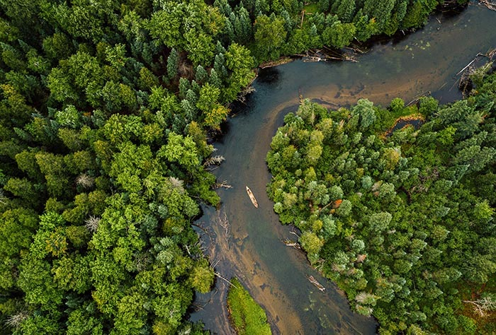 Aerial View of the Manistee River