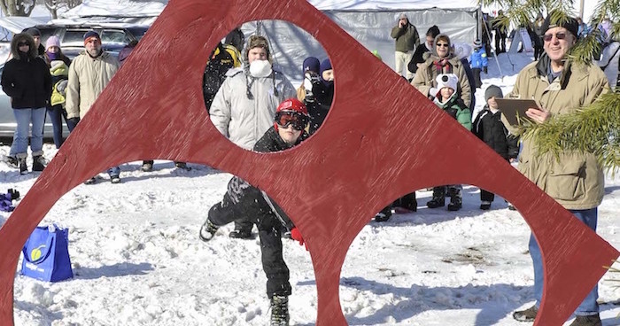 Snowball Target Competition at Beulah's Winterfest