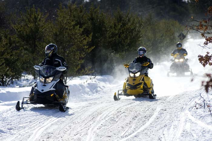 Snowmobiling in Michigan's UP