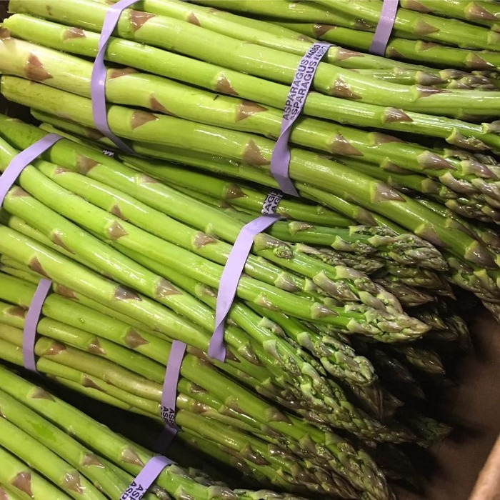 Bundle of fresh picked asparagus