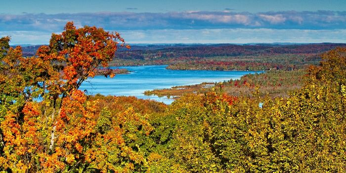 Beautiful fall colors at the scenic overlook at Lakeview Restaurant