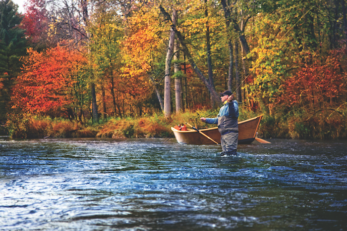 Fly fishing in the Pere Marquette River