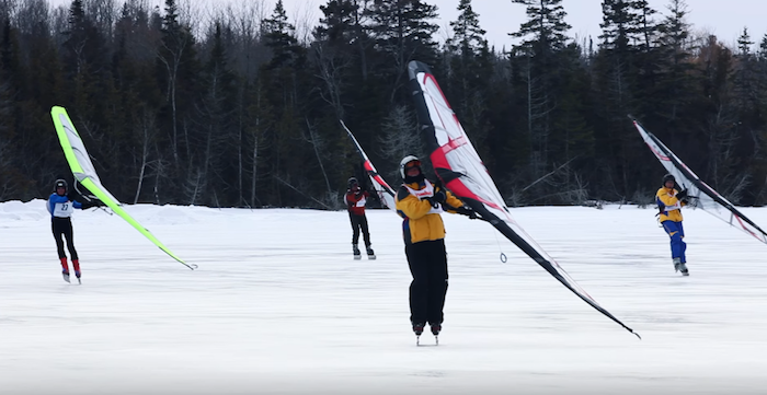 Ice Sailing in St. Ignace