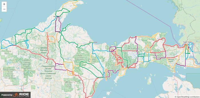 Discover Road Biking in Michigan's Upper Peninsula | Michigan on county map of upper michigan, map of upper peninsula michigan, map upper peninsula mich, map of upper mi,