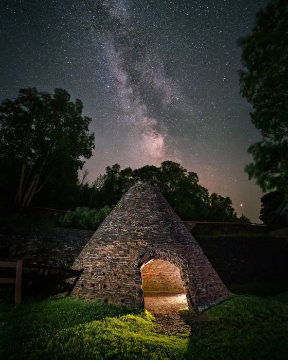 Milky Way above kiln at Fayette Historic State Park