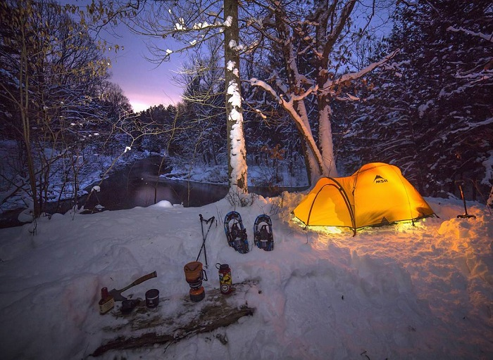 Winter Camping in the Huron Manistee National Forest