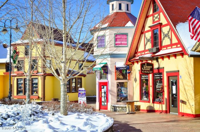 Downtown Frankenmuth in Winter